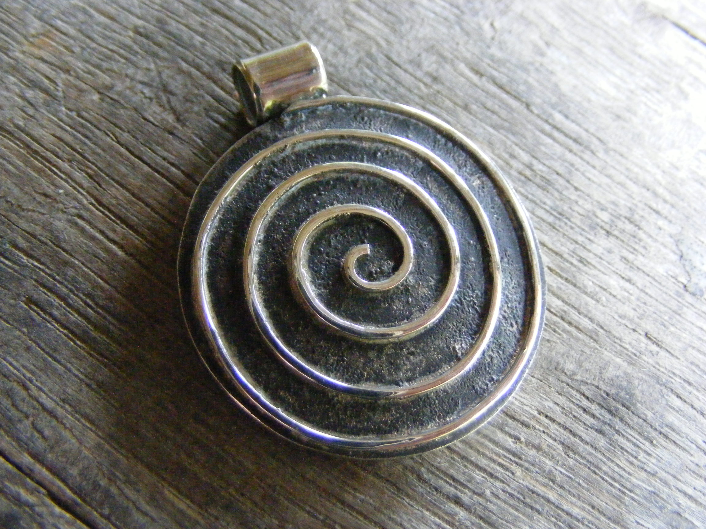 fullxfull sterling hammer necklace spiral leather formed adjustable men texture s koru listing large il hammered cord pendant silver mens